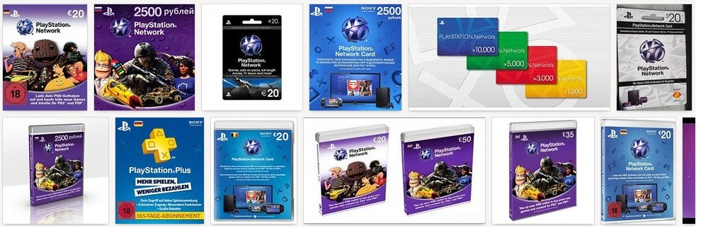 playstation network card купить онлайн со скидкой
